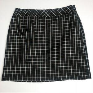 Ann Taylor LOFT Plaid Wool Skirt Petite 10